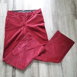 Body By Victoria Women's Red Velvet Flare Pant